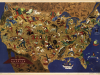 Mapa USA z naniesion...