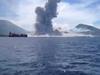 Głośna erupcja wulka...