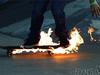 Burning skateboard 3...